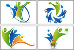Set collection people logos Royalty Free Stock Photography