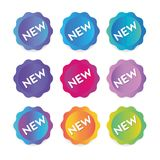 A collection of round stickers labels for banners. Set collection of round stickers labels for banners Stock Image