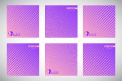 Set of gradient backgrounds with geometric patterns Stock Images