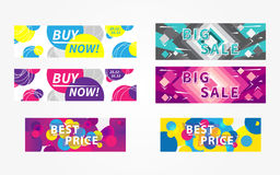Set collection of vector horizontal promotion banners Stock Image