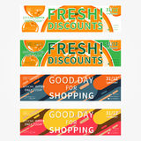 Set collection of vector horizontal promotion banners Stock Photography