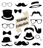 Set of collection vintage fashion elements.  illus Royalty Free Stock Images