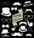 Set of collection vintage fashion elements.  illus Stock Images