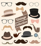 Set of collection vintage fashion elements.  illus Stock Photography