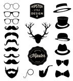 Set of collection vintage fashion elements. vector illustration Royalty Free Stock Photography
