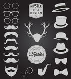 Set of collection vintage fashion elements. vector illustration Royalty Free Stock Photos