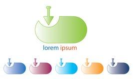 Web Download Logo Template - Web Download Icon - Web Download Symbol- New Fresh Logotype royalty free illustration