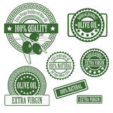 Set collections of labels for olive oil Royalty Free Stock Image