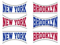 Set College New York City, Vector Image. Set College New York City, T shirt graphic, Vector image Stock Photo