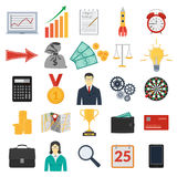 Set of coloful business icons Royalty Free Stock Image