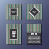 Set coloful ulotki, broszurki, szablonu projekt Zdjęcia Royalty Free