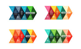 Set of color abstract arrow option infographic templates Stock Image