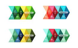 Set of color abstract arrow option infographic templates Stock Photos