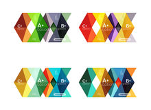 Set of color abstract arrow option infographic templates Stock Photo