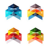 Set of color abstract arrow option infographic templates Royalty Free Stock Images