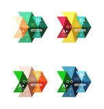Set of color abstract arrow option infographic templates Royalty Free Stock Photo
