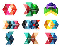 Set of color abstract arrow option infographic templates Royalty Free Stock Photos