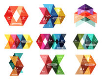 Set of color abstract arrow option infographic templates. Vector backgrounds for workflow layout, diagram, number options or web design Stock Photography