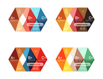 Set of color abstract arrow option infographic templates. Vector backgrounds for workflow layout, diagram, number options or web design Stock Photo