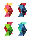 Set of color abstract arrow option infographic templates. Vector backgrounds for workflow layout, diagram, number options or web design Stock Image