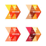 Set of color abstract arrow option infographic templates. Vector backgrounds for workflow layout, diagram, number options or web design Royalty Free Stock Image