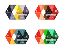 Set of color abstract arrow option infographic templates Royalty Free Stock Image
