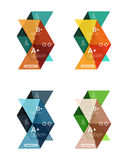 Set of color abstract arrow option infographic templates Stock Photography