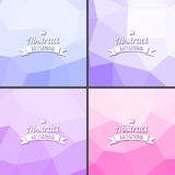 Set of color abstract polygonal background. Set of color  abstract polygonal background.Vector texture Royalty Free Stock Image