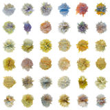 Set of color abstract substances on white Stock Images