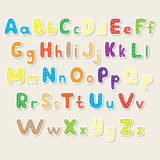 Set of the color alphabet cut out from paper Stock Photography