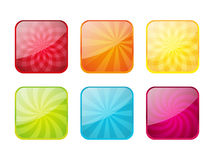 Set of color icons Stock Photography