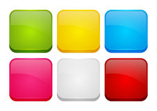 Set of color apps icons Stock Images