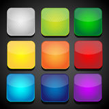 Set of color apps icons - background Royalty Free Stock Images