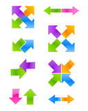 Set of color arrow Royalty Free Stock Images