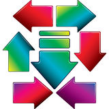 Set of color arrow. Royalty Free Stock Photo