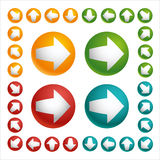 Set of color arrow ball Stock Photography