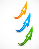 Set of color arrows Stock Photo