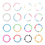 Set of color  arrows Royalty Free Stock Images