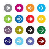 Set of color arrows. Icon Stock Vector. Stock Images