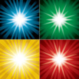 Set of color vector backgrounds with flash Stock Photos