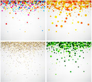 Set of color backgrounds. Stock Image