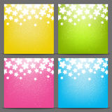 Set of color backgrounds Royalty Free Stock Photography
