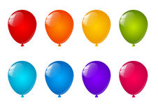 Set of color balloons Stock Photos