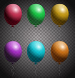 Set of color balloons. Checkered background Royalty Free Stock Photo