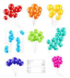 Set of Color Balloons, Vector Illustration Stock Photo