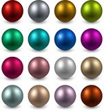 Set of color balls. Royalty Free Stock Photos