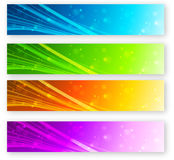 Set of color banner Royalty Free Stock Photo