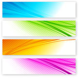 Set of color banner Stock Image