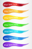 Set of color banners Stock Photo