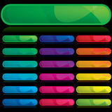 Set of color banners, buttons Stock Photos